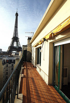 Paris Raffle: view from the south terrace of your elegant Parisian apartment